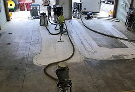 Toth Farm- Concrete Polishing - During
