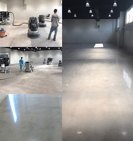Liquor- Concrete Polishing - Before, During, & After