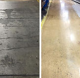 Concrete Polishing - Before & Afte