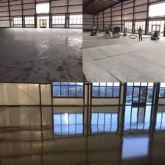 Local Manufacturing Facility- Concrete Polishing - Before, During, & After
