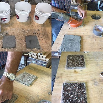Custom Terrazo Sample Making Process