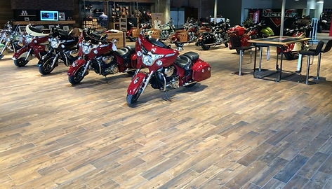 Indian Motorcycle Dealership - Ceramic Tile Floors