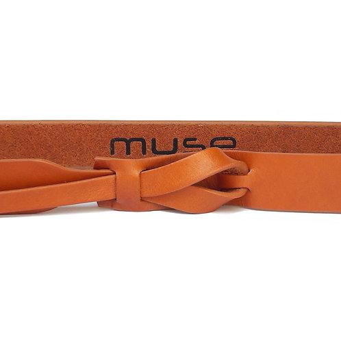 1 inch Skinny Light Tan Muse Belt