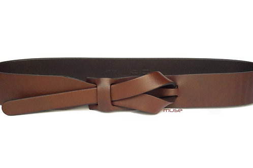 1-1/2 or 1-1/4 Inch Brown Muse Belt