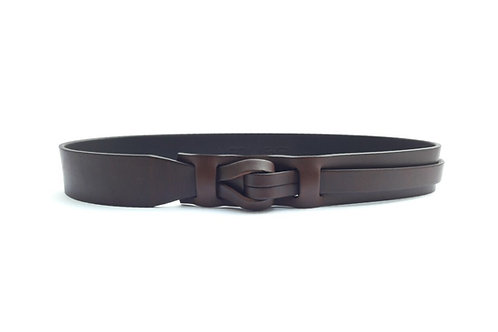 1-1/2 Brown Muse Qallu Leather Belt