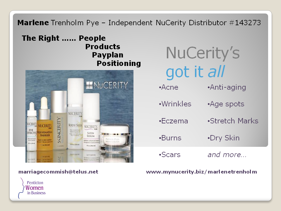 NuCerity Slide
