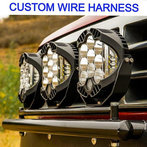 Custom Made Wire Harness Baja Designs LP6 / LP9 lights