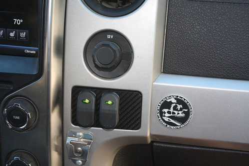 """""""A"""" Cubby Hole Switch Plate for 09-14 GEN 12 F-150 2-Hole Large Switch"""