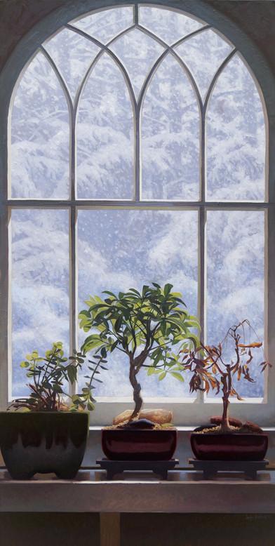 Snowy Morning Windowsill