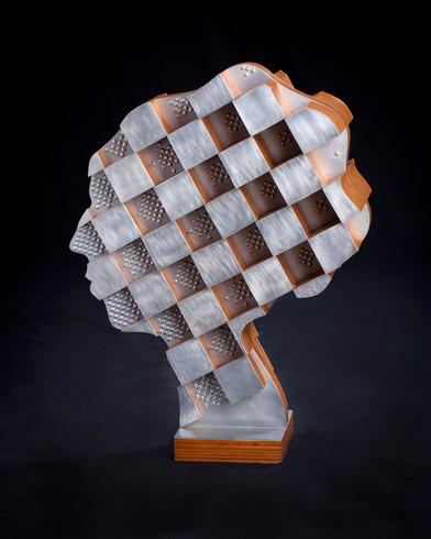 Profile of a Woman: Checkerboard