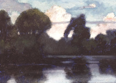 River, Clouds