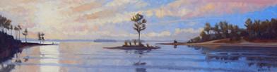 Island Pine at Sunset