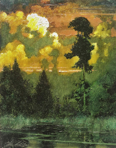 Cedar, Twilight, Still