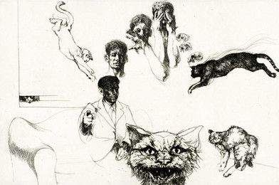 Self Portrait with Cats