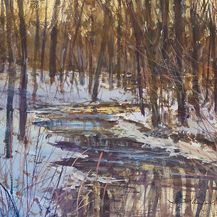 Winter Creek - Evening Tones (Pisgah National Forest)