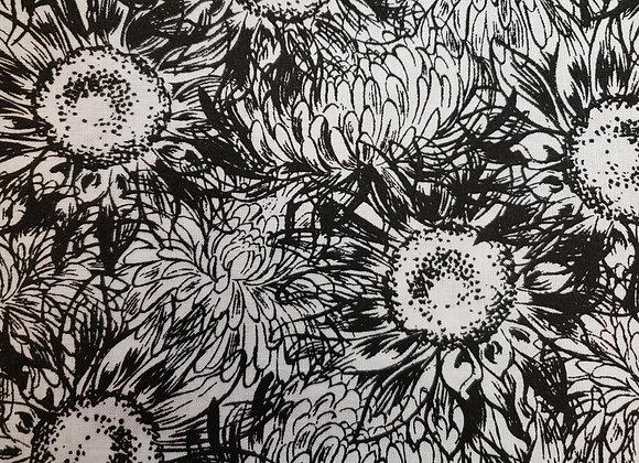 Sketch sunflowers black