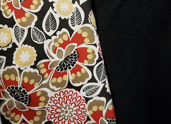 Red tans and blacks floral