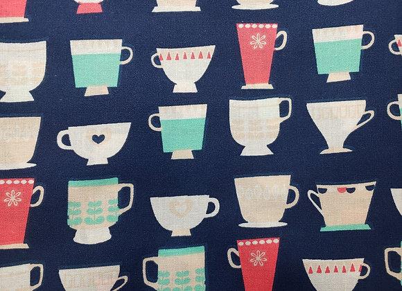 Navy Tea Cups