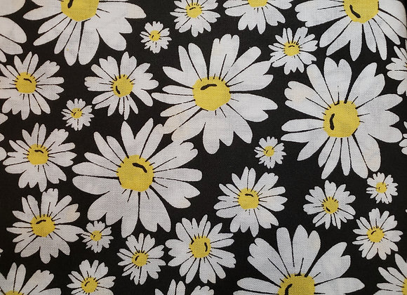 Black and white yellow daises