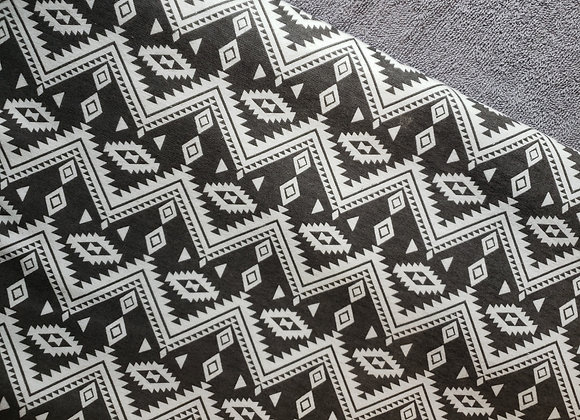 Aztec grey and white