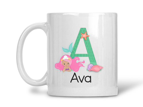 Peronalised mug mermaid