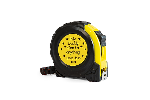 personalised tape measure my daddy can fix anything