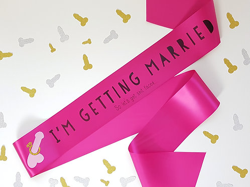 personalised sash penis hen night hen party mature adult bridal party wedding day