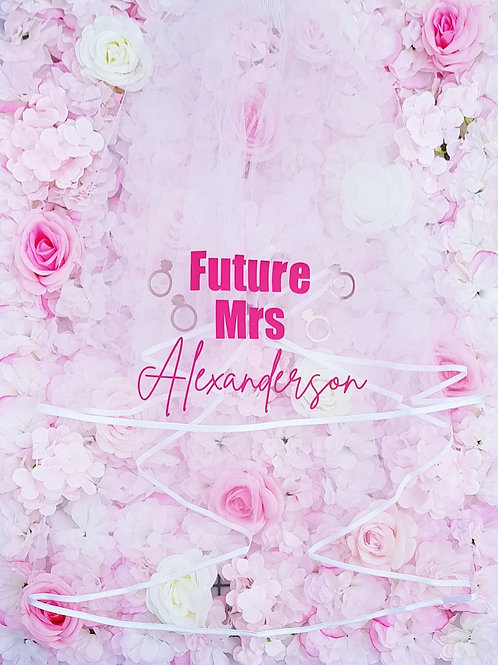future Mrs personalised bride to be hen party hen night hen weekend gift