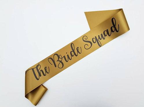 hen night bridal party team bride bride squad sash