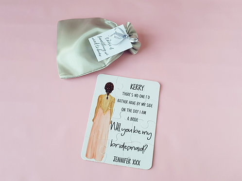 Bridesmaid proposal puzzle, Will you be my bridesmaid?