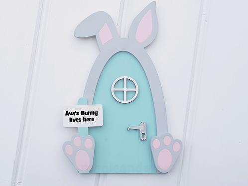 Easter bunny door Personalised pastel Fairy door, Easter decoration