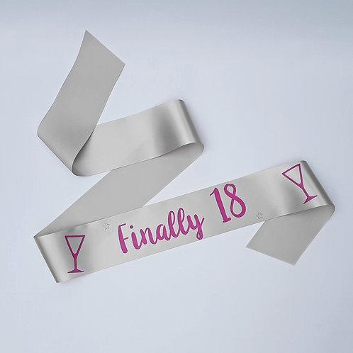 18th birthday sash finally 18 girls birthday party