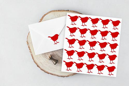 Robin stickers - bird envelope seal - wedding vinyl decal vinyl stickers