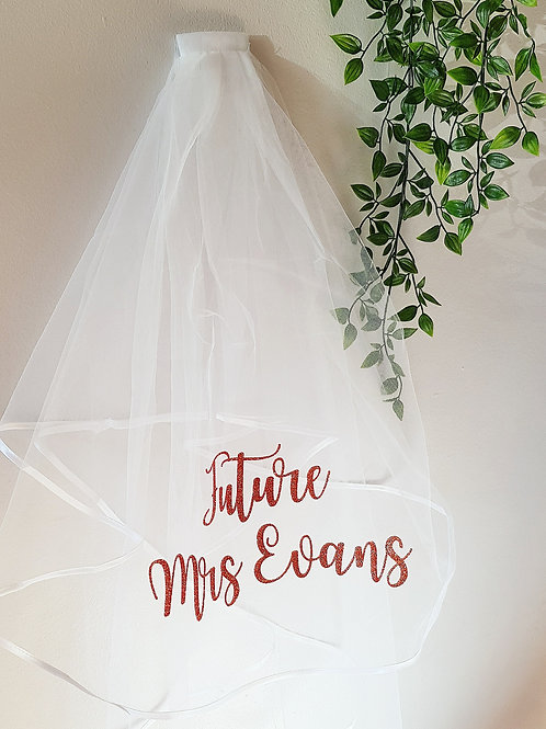 personalised hen night veil hen party veil bride to be