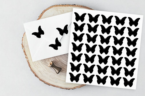 butterfly vinyl sticker - envelope seal - diy wedding - favour stickers