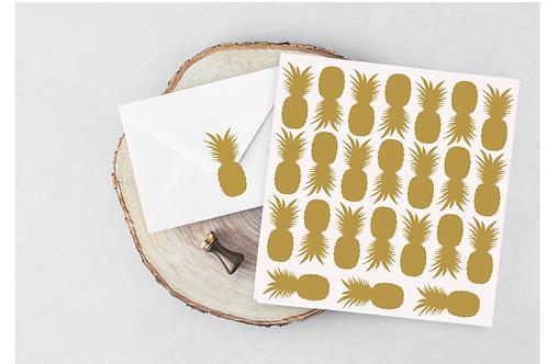 Pineapple stickers envelope seal vinyl sticker- vinyl decal