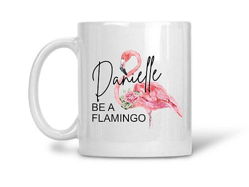 personalised mug flamingo