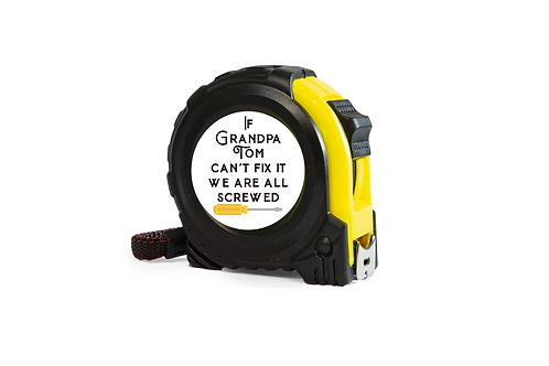 tape measure personalised gift for grandad gift for dad