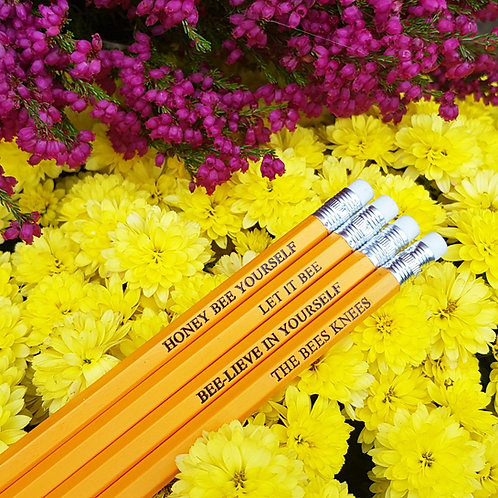 Bee quote pencils - bee lover - quirky stationer gift