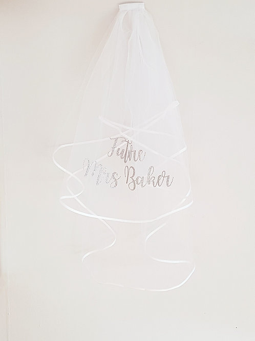 hen night veil personalised hen party veil bridal shower bride to be future mrs