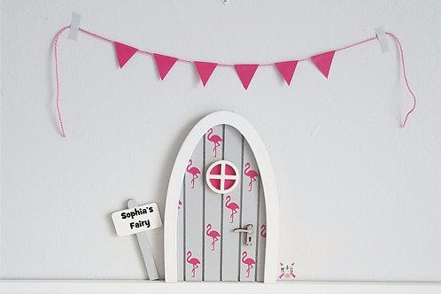 Flamingo fairy door