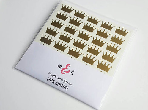 crown stickers envelope seal vinyl sticker- vinyl decal - princess party