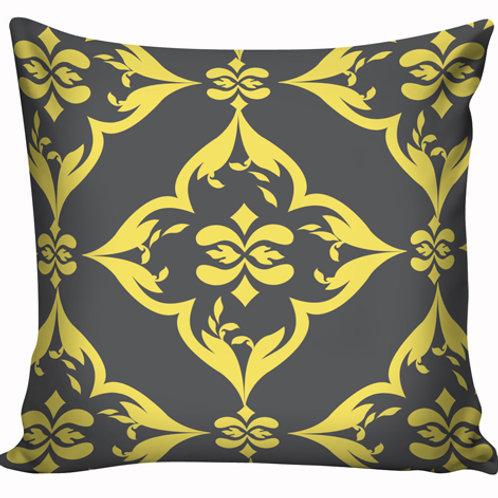 Capa de almofada Amarelo e cinza 7