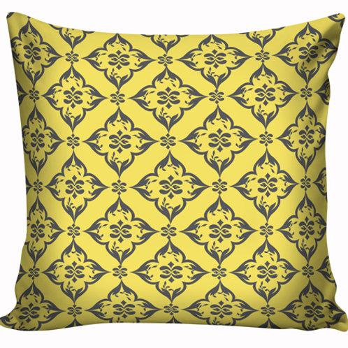 Capa de almofada Amarelo e cinza 5