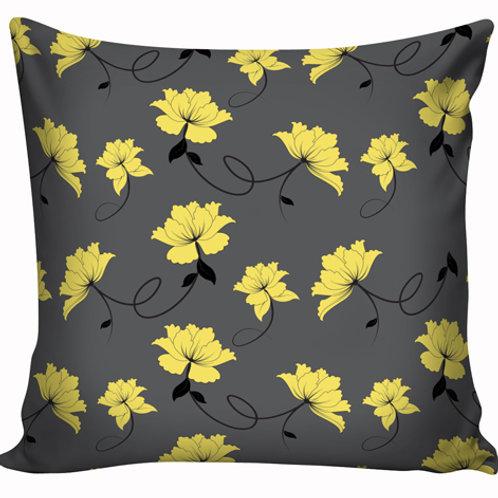 Capa de almofada Amarelo e cinza 2