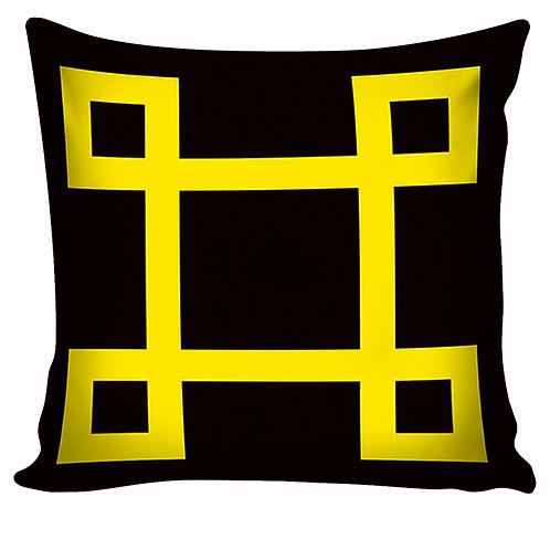 Capa de almofada Preto&Amarelo 12