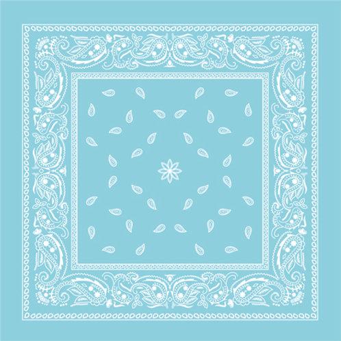 Lenço/bandana Kachmir Vintage Azul bebê