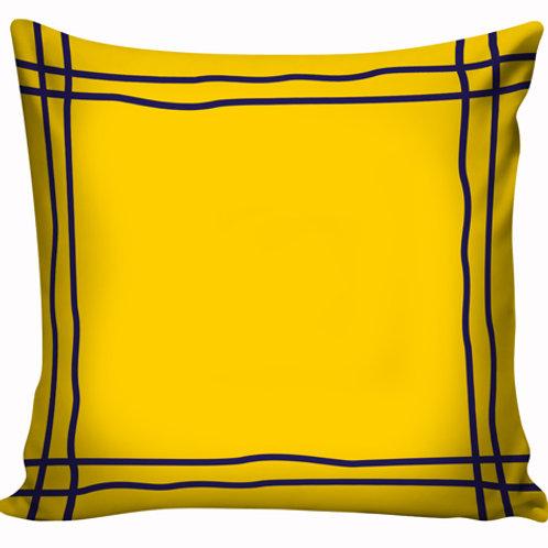 Capa de almofada Azul e Amarelo 7