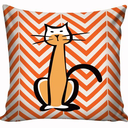 Capa de almofada Gato laranja