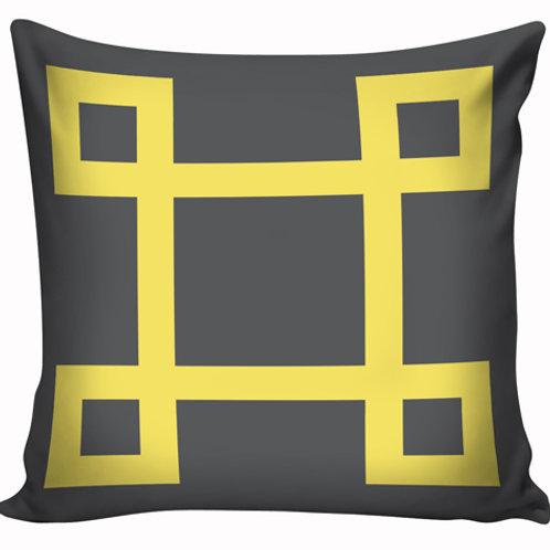 Capa de almofada Amarelo e cinza 11